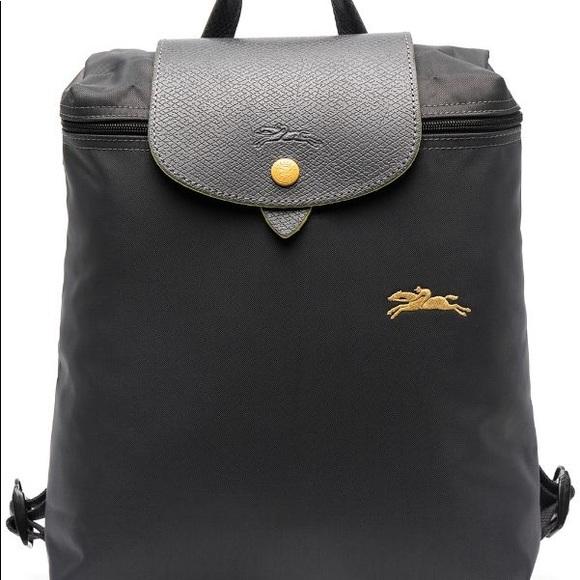 Longchamp Le Pliage Club Backpack Gunmetal